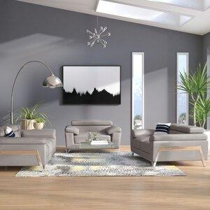 Corelle 3 Piece Leather Living Room Set