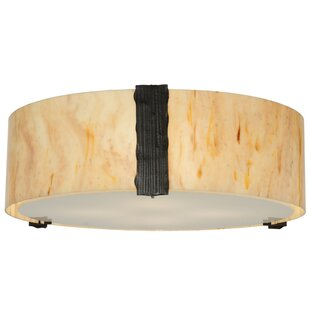 Meyda Tiffany Cilindro 4-Light Flush Mount