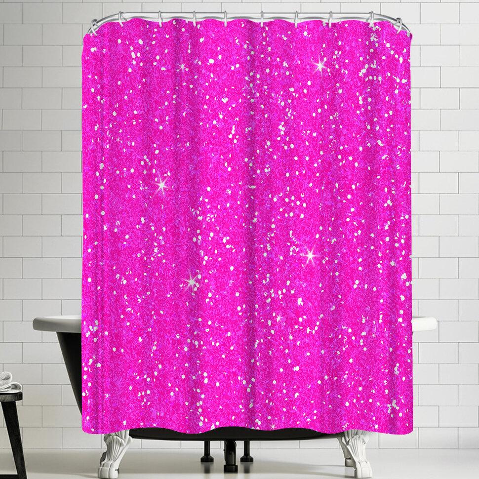 East Urban Home Wonderful Dream Pink Diamond Single Shower Curtain Wayfair
