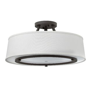 Charlton Home Purdue 3-Light Flush Mount
