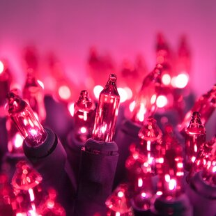 100 pink mini light string