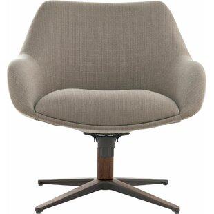 Cortlandt Swivel Armchair by Modloft Black