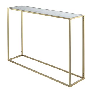 Theydon Faux Marble Console Table