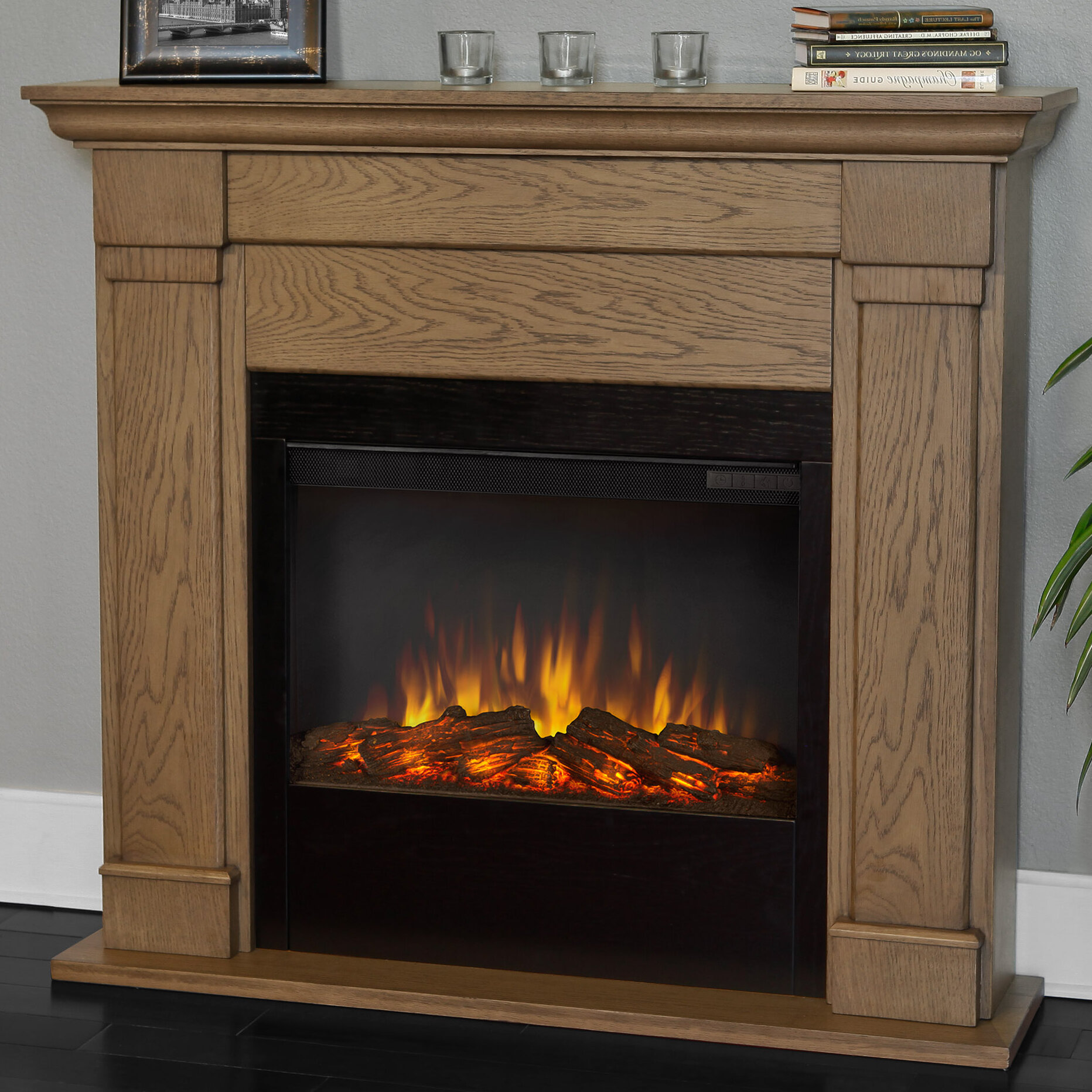 Real Flame Slim Wall Mounted Electric Fireplace Amp Reviews