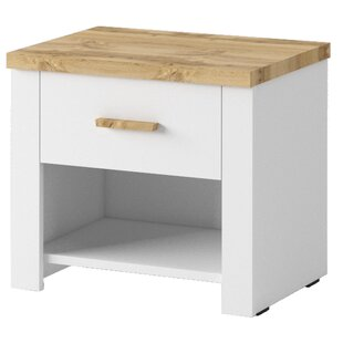 Review Leonel 1 Drawer Bedside Table