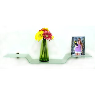 Floating Glass Shelves Eagle Wall Shelf by Spancraft Glass