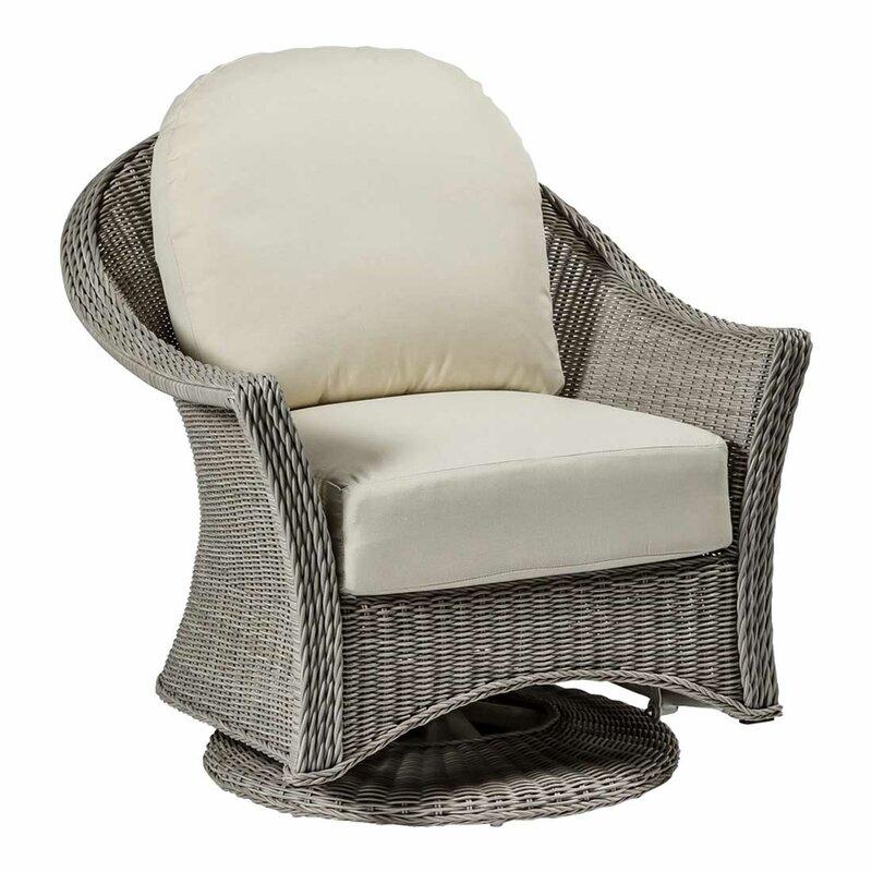 summer classics regent swivel glider chair with cushions wayfair