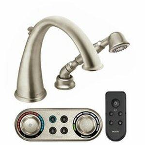 Kingsley High Arc Roman Tub Faucet with Hand Shower Iodigital TechnologyMoen Kingsley   Wayfair. Moen Roman Tub Faucet With Hand Shower. Home Design Ideas