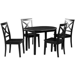 Spillers 5 Piece Extendable Solid Wood Dining Set by Winston Porter Herry Up