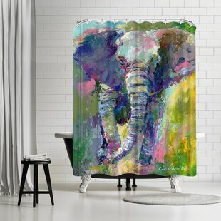 Richard Wallich Elephant Single Shower Curtain