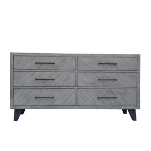 Fiskeville Acacia 6 Drawer Double Dresser by Union Rustic