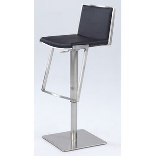 Jorman Adjustable Height Bar Stool by Orren Ellis