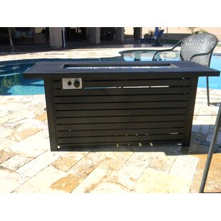 Outdoor Aluminum Propane Gas Fire Pit Table by AZ Patio Heaters