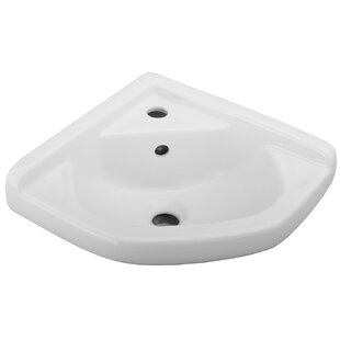 Barclay Vitreous China Specialty Wall-Mount Bathroom Sink with Overflow