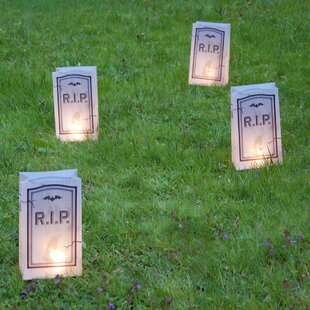 LumaBase Tombstone Battery Operated Luminaria Kit with Timer