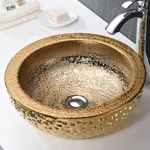 Top Reviews Regalia Glass Circular Vessel Bathroom Sink ByANZZI