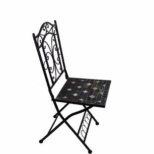 Gossard Mosaic Metal Patio Dining Chair by Fleur De Lis Living