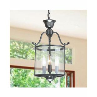 Berkowitz 3-Light Lantern Pendant by Char..