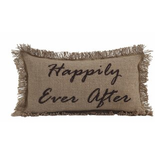 Lucia Burlap Happily Ever After Cotton Lumbar Throw Pillow