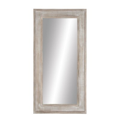 harrietstown rustic wood rectangular full length mirror - Wood Frame Full Length Mirror