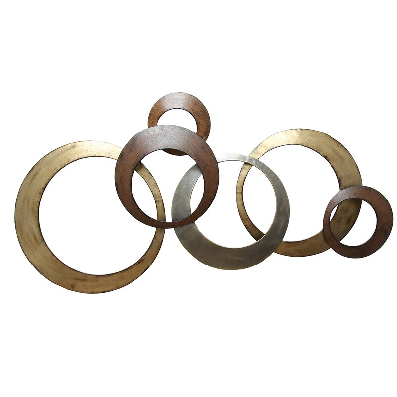 Metal Circle Wall Decor stratton home decor interlocking circles metal wall décor