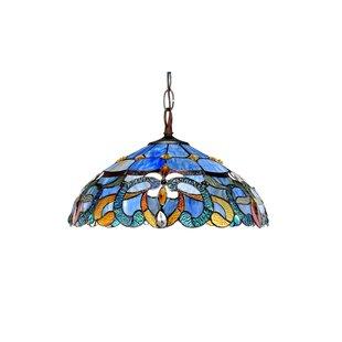 Suvi Blue 2-Light Bowl Pendant by Astoria Grand