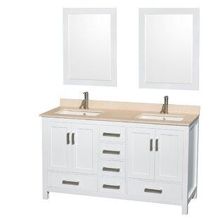 Sheffield 60 Double Bathroom Vanity Set with Mirror