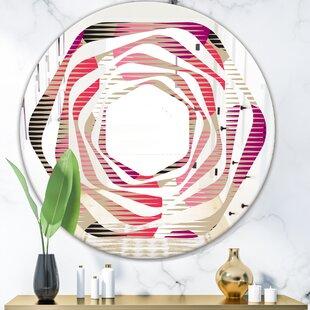 Whirl Circular Pattern VIII Glam Frameless Wall Mirror