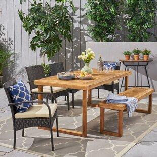 Cobblefield Outdoor 6 Piece Dining Set wi..