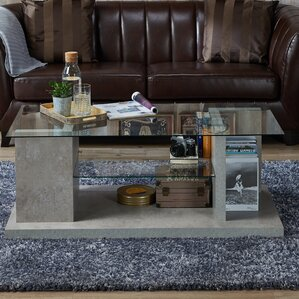 Eugene Contemporary Coffee Table with Magazine Rack by 17 Stories