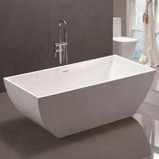 59 x 29.5 Freestanding Soaking Bathtub
