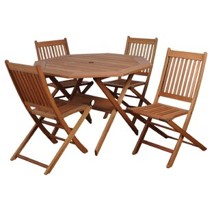 Trego International Home Outdoor 5 Piece Dining Set By Highland Dunes