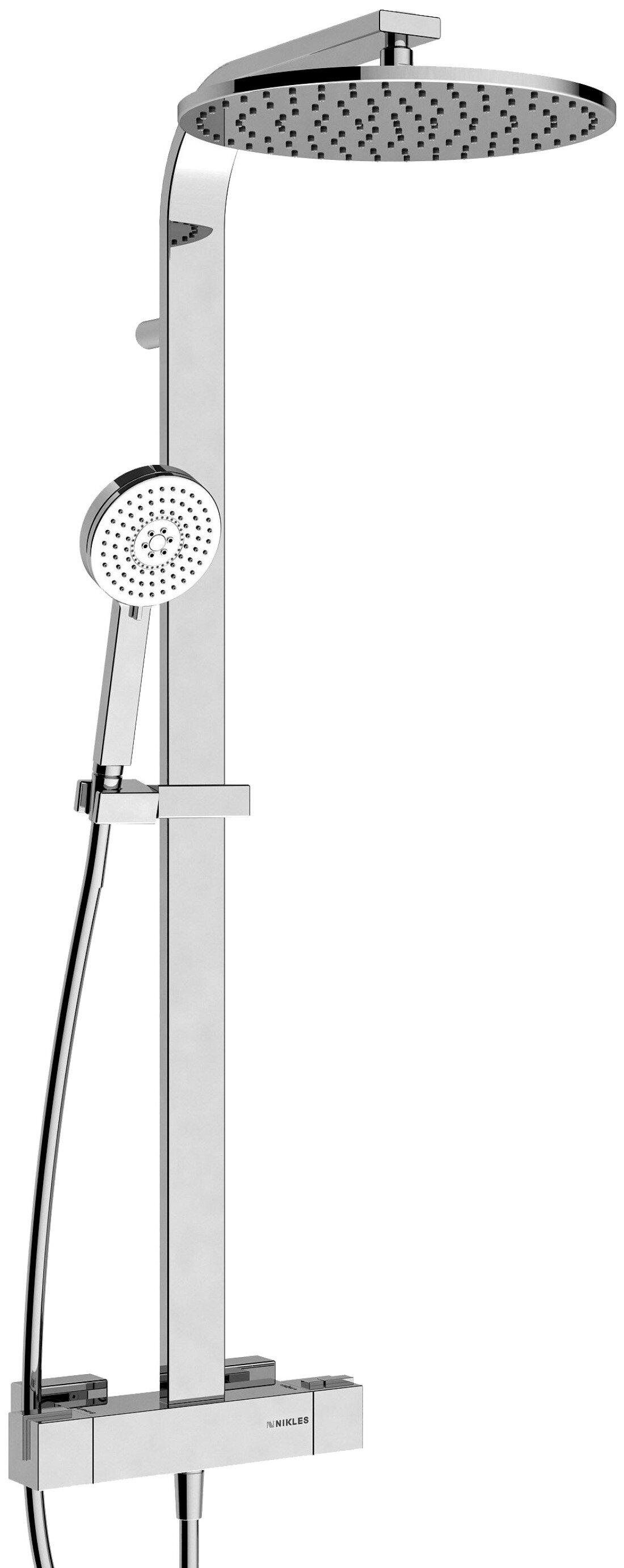 Nikles Pure Techno Thermostatic Complete Shower System With Rough In Valve Wayfair