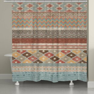 Avedon Southwestern Stripe Single Shower Curtain by Foundry Select Reviews