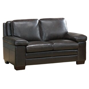 Devry Leather Loveseat