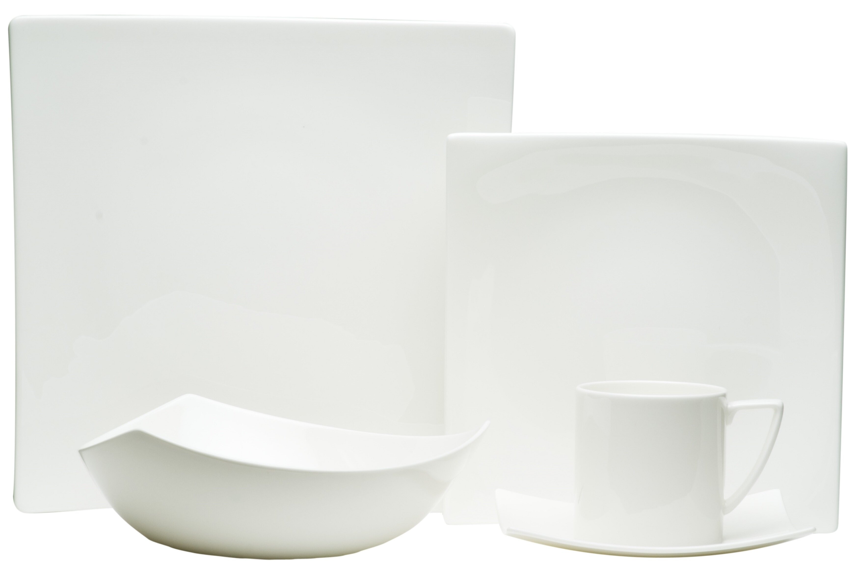 Red Vanilla Extreme White 20 Piece Dinnerware Set Service For 4 Reviews Wayfair