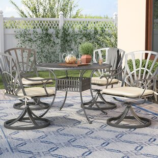 Frontenac 5 Piece Dining Set With Cushions by Astoria Grand Best Design