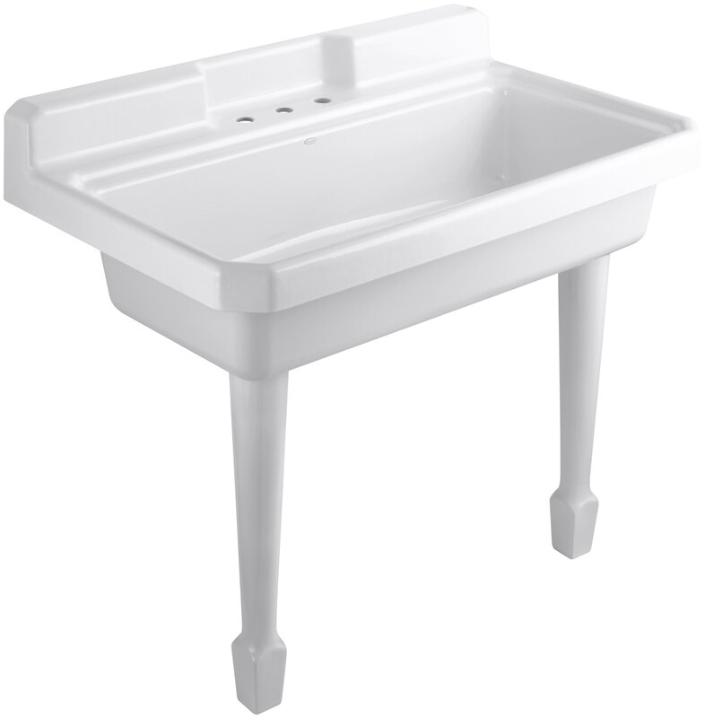 "kohler harborview 48"" x 28"" single top-mount or wall-mount utility"