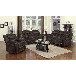 Sunset Trading Teddy Bear Reclining Configurable Living Room Set