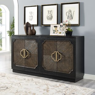 Eleah Traditional Distressed 4 Door Credenza by Bloomsbury Market
