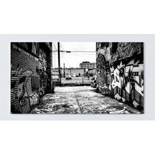 Graffiti Motif Magnetic Wall Mounted Cork Board By Ebern Designs