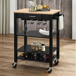 Furness Wheeled Kitchen Cart Ebern Designs