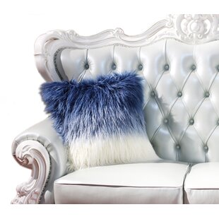 Haslingden Ombre Wild Faux Fur Throw Pillow