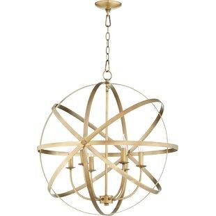 Willa Arlo Interiors Dian 6-Light Globe Chandelier