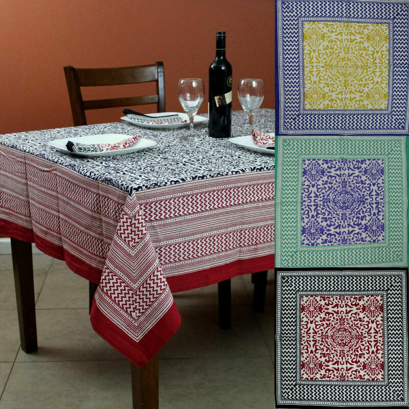 Winston Porter Jeip Cotton Tablecloth Wayfair