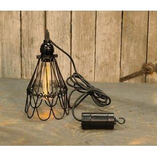 LurLine Hanging Battery Cage 1-Light LED Bulb Pendant