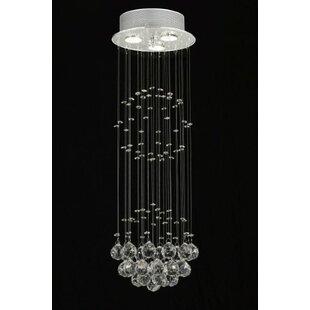 Antoninus 3-Light Crystal Pendant by Everly Quinn