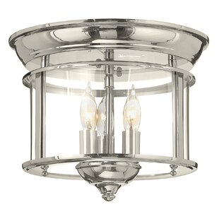 Inexpensive Gentry 3-Light Flush Mount By Hinkley Lighting