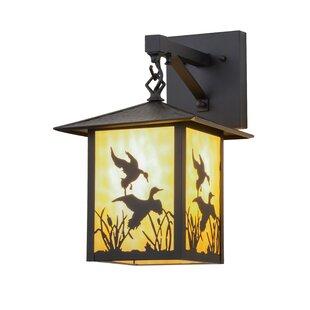 Meyda Tiffany Greenbriar Oak 1-Light Outdoor Wall Lantern