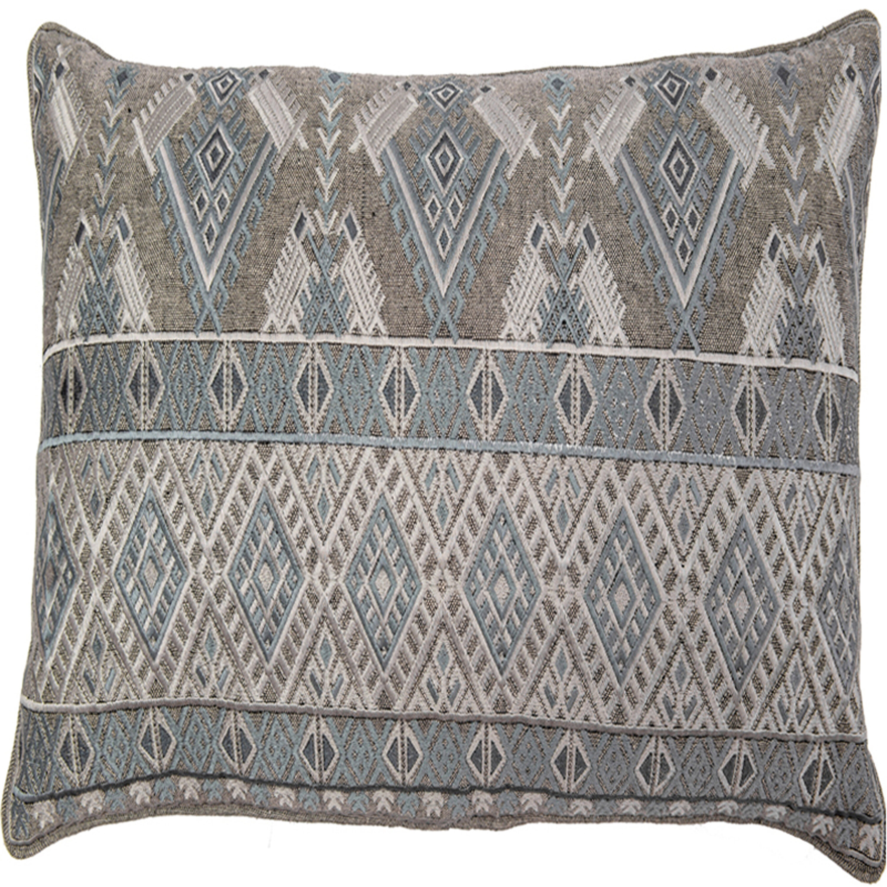 Bloomsbury Market Ouzts Diamond Geo Embroidery Pillow Cover Wayfair